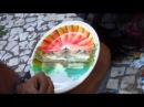 Fazendo pintura em cerâmica com dedo - Artista Wilson - Centro - SP