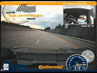 VIDEO VBOX Nardo 2009 Techart Cayenne