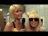 Paris Hilton meets Lady Gaga at the Nokia 5800 Launch
