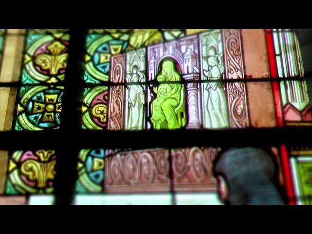 Eglise St Pierre - La bataille de Bouvines - Infographie 3D des vitraux