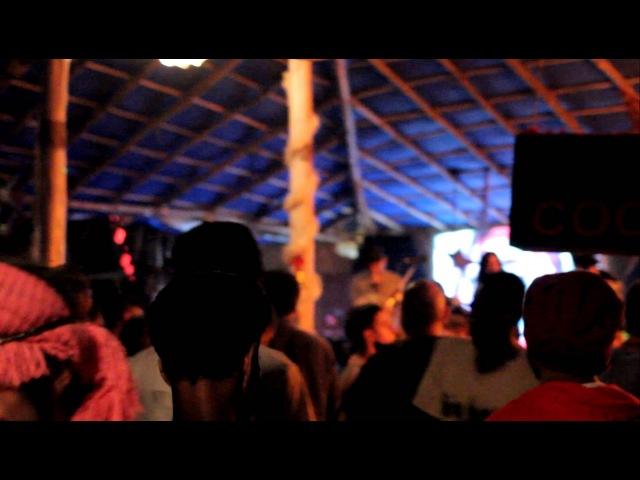 Гоа. Пляж Арамболя. Регги-хип-хоп туса. (05.01.2013)
