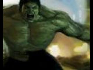 The Incredible Hulk digital finger painting by Damien Rowe