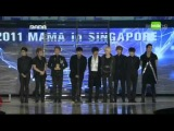 111129 MAMA 2011 Super Junior won Singapore's Choice Award