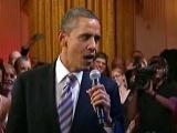 На вечере в Белом доме президент США Барак Обама спел блюз - Первый канал