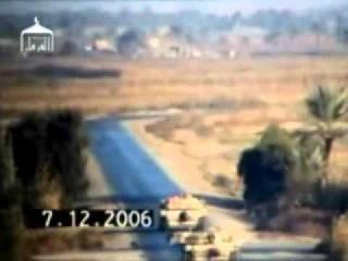 Подрыв колонны Абрамсов на фугасах.Ирак.
