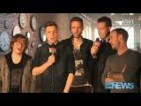 OneRepublic on the set of