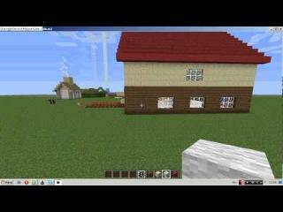 Как сделать красиаый дом в майнкрафт часть2