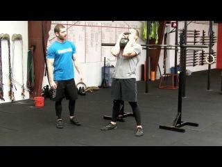 goblet squat/приседания с гирей на груди