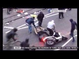 London Riots Motorcycle Jacked