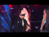 Lady Gaga - Heavy Metal Lover - Marry the night - Born This Way live in new years eve 2011-2012 HD