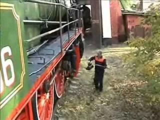 Обкатка паровоза Су251-86 перед окончанием ремонта