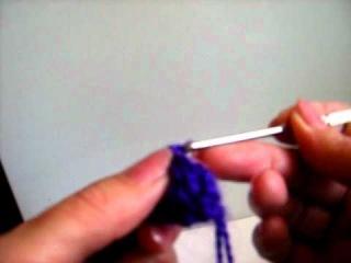 Вязание крючком. Видеоурок №4 Пышный столбик.AVI