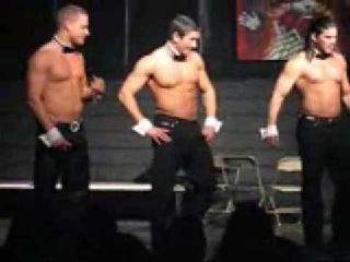 Man strip Chippendale( last 5 secs guy butt naked)