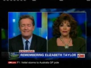 Elizabeth Taylor REMEMBERED by Carole Bayer Sager, Joan Collins, Larry King on CNN [part 1/6]