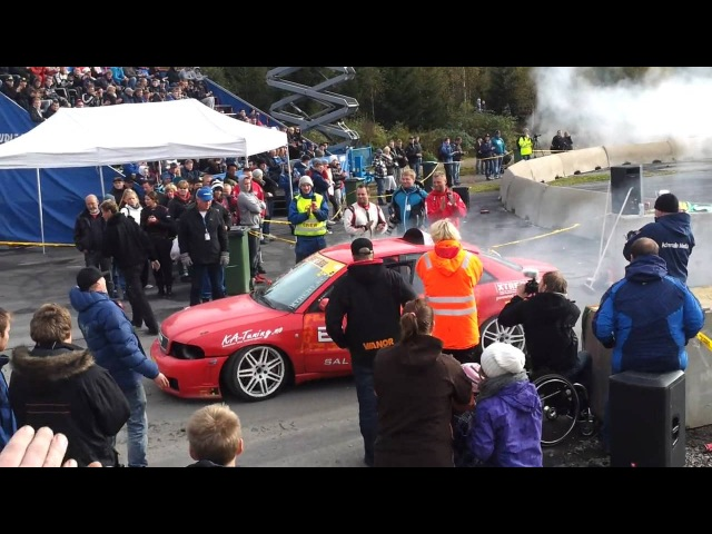 876hp Burnout with Audi S4 (engine 2.5 20V inline 5)
