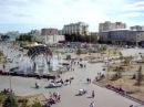 Вид с высоты на Цветной бульвар и Фонтан в Тюмени