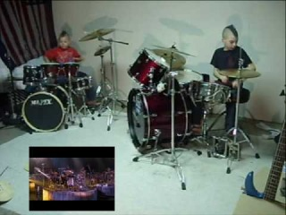 KidSmack Dueling Drum Solo - Real Drums - Picture in Picture