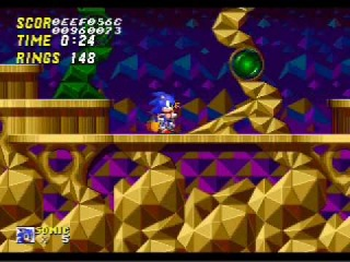 Sonic The Hedgehog 2 Beta: Hidden Palace Zone 1 (Debug Mode)