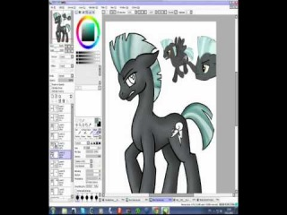 Speedpaint SAI - draw Thunderlane from MLP
