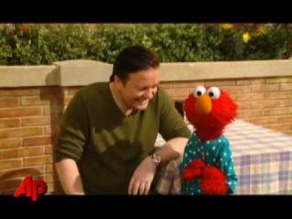 Gervais + Elmo = Hilarity on Sesame Street