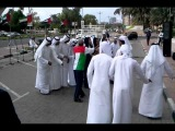 Local Arabs Singing Dancing National Day in Dubai United Arab Emirates spectators joining in