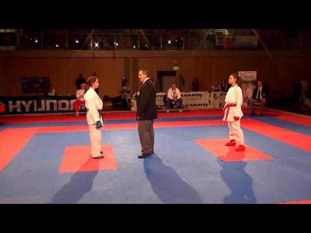 Karate1 PL Final, Salzburg 2012 - Kumite female -55 - MELNYK vs. WARLING