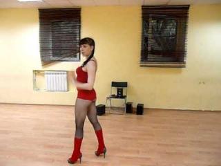 Обучалка по стриппластике от Остроуховой Ольги!Для учениц,танец для групп!Леди в красном!
