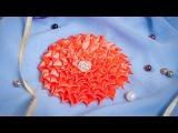 Плоский Цветок Канзаши МК / DIY Kanzashi / Tutorial