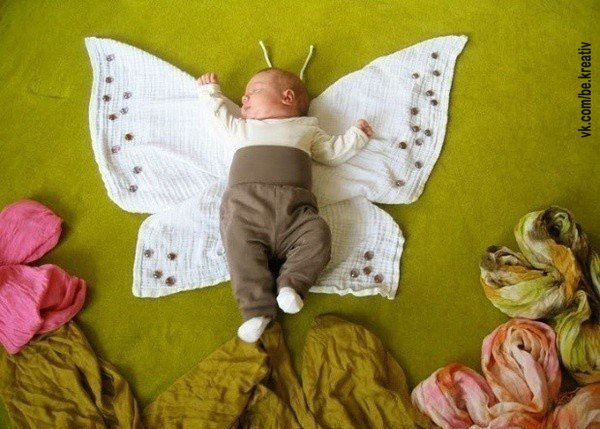 Интересные идеи фото для новорожденных
