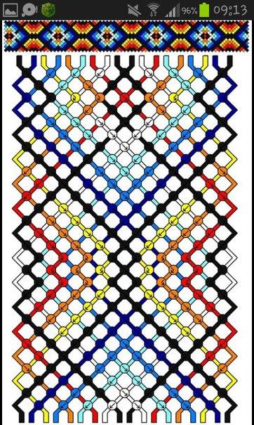 Схема косого плетения этого