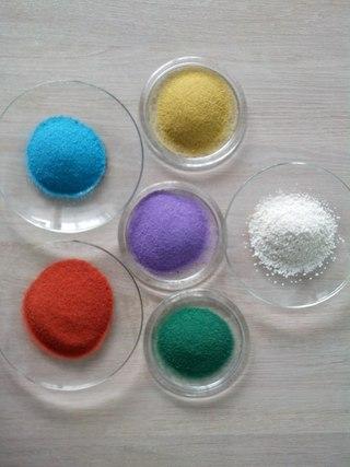 Декоративный цветной песок любая