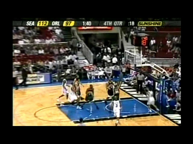 2003-04 NBA Season / Seattle SuperSonics@Orlando Magic / HD