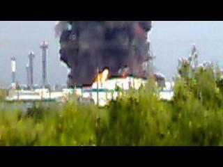 взрыв РВС - 20000 на ЛПДС «Конда» — смотреть онлайн видео, бесплатно!