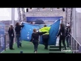 Topless protester tries to grab Euro 2012 cup