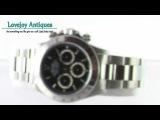 Rolex Mens Daytona Stainless Steel Watch 16520 U Zenith
