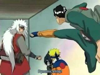 Funny Might Guy and Jiraiya moment - Dynamic Entry! - Naruto HD