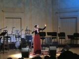 Kyrgyz singers Kanykei and Baktygul Badyeva perform in the Library of Congress in Washington, DC