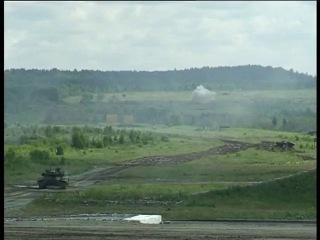 Main Battle Tank T-90 fires