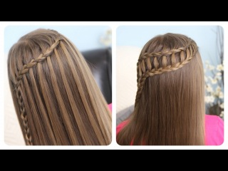 Feather Waterfall & Ladder Braid Combo | Cute 2-in-1 Hairstyles щ