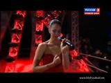 Наталия Кличко поет перед боем Кличко - Чарр