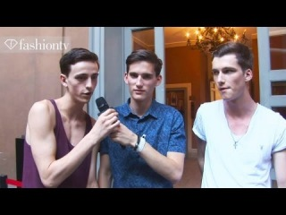 Backstage at Burberry with Handsome Male Models | Milan Men's Fashion Week Spring 2013 | FashionTV