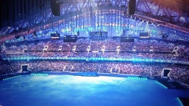 Секунды до начала шоу! #ЦеремонияОткрытия Паралимпийских игр в Сочи сломает лед в сердцах!