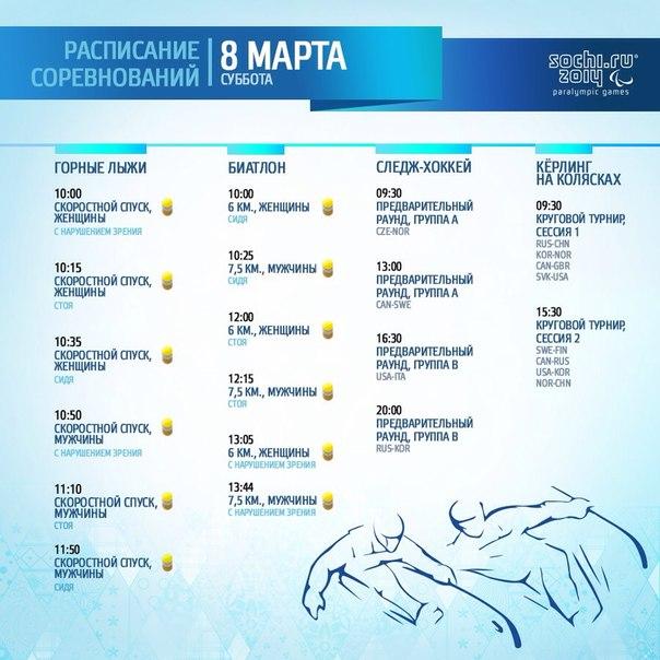 Игры открыты, и в первый день соревнований сразу же разыграют медали - на горнолыжной трассе и в биатлоне. Команды по следж-хоккею и керлингу на колясках проведут первые матчи! #болеемзанаших