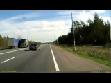 ДТП Водитель грузовика уснул за рулем Asleep at the Wheel ДТП! Авария! Видеорегистратор