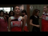 Santana Lopez, Rachel Berry and Lea Michele - I Kissed A Girl (Glee Cast)