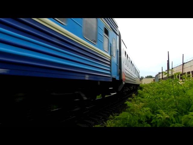 Тепловоз ТЭП70-0566 с поездом №353Е Пермь - Адлер. Перегон Заводская - Ижевск