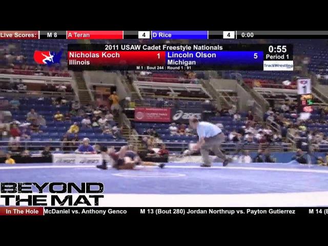 Cadet Freestyle 91 - Lincoln Olson (MI) vs. Nicholas Koch (IL)