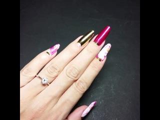 Пленки Minx на нарощеных ногтях