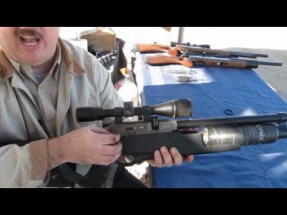EVANIX GIANT FULL AUTO AIR RIFLE - Action at the SHOT Show 2012