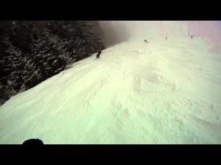 Snowboarders in Tatranska Lomnica